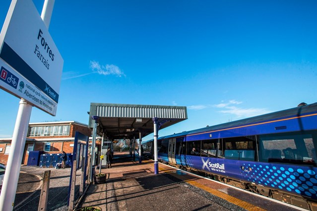 Weekend works keep new Forres station on-track: Forres station