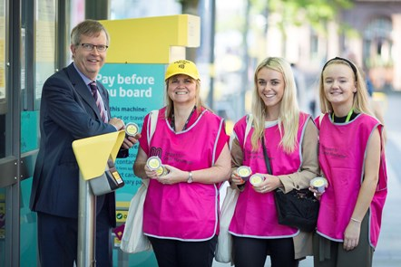 Transport for Greater Manchester staff at the launch of contactless payments