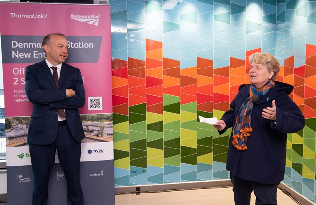 """New and improved Denmark Hill station delivers first """"carbon positive"""" upgrade on rail network: Denmark Hill Upgrade Opening (2)"""