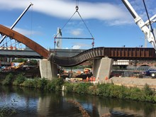 Ordsall Chord cascade lift 14 August 2017