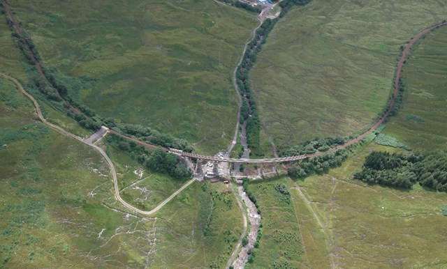 Auch viaduct Aerial horseshoe