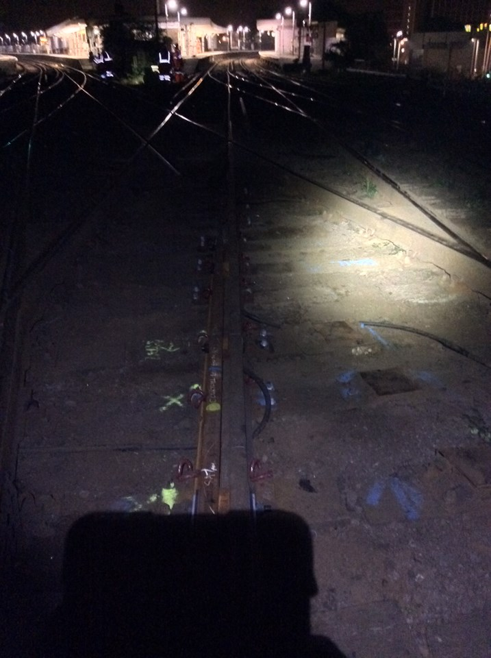 KENT: Trains diverted after rail equipment damaged: Lewisham: a broken diamond crossing is removed overnight by Network Rail staff (Sept 30)