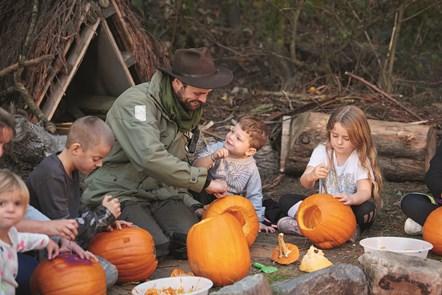 Nature Rockz Pumpkin Making for Halloween