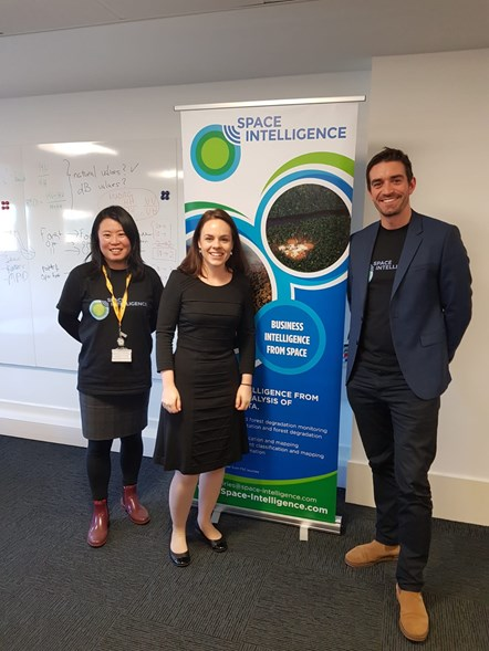 Satellite data company receives extra £100,000 to help tackle the climate emergency: Space Intelligence Kate Forbes visit-3