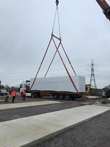 Conrad Energy  - generator sets being lifted onto site